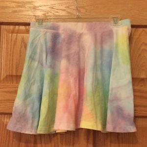 Dresses & Skirts - Tie-dye rainbow skater skirt medium
